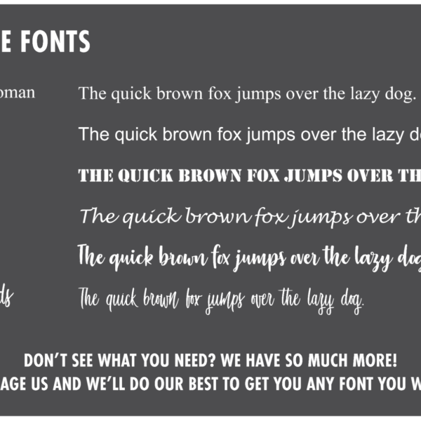 Fonts Available